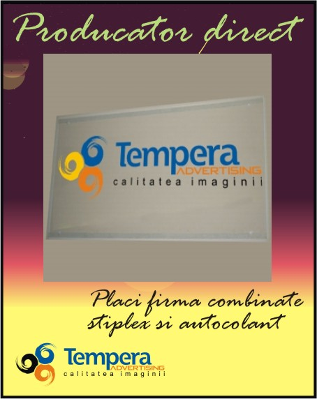 placi firma combinate stiplex si autocolant