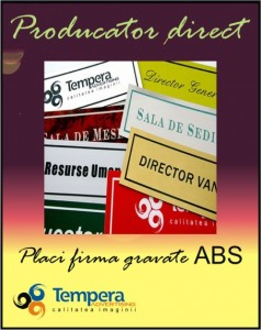 Placi firma gravate ABS