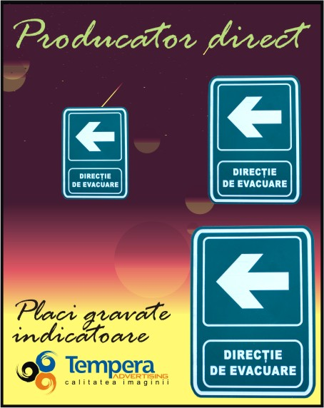 Placi gravate indicatoare